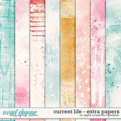 Current Life   Extra Papers by Digital Scrapbook Ingredients