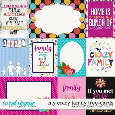 My Crazy Family Tree Cards by JoCee Designs and Melissa Bennet