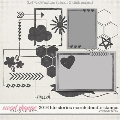 2016 Life Stories - March Doodle Stamps by Sugary Fancy