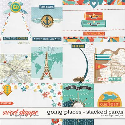 Going places - stacked cards by WendyP Designs