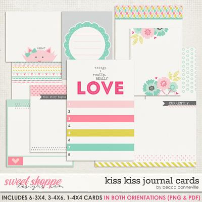 Kiss Kiss Journal Cards by Becca Bonneville
