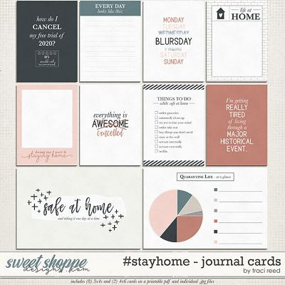 #stayhome Journal Cards by Traci Reed