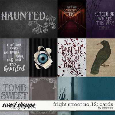 Fright Street No.13: Cards by Grace Lee
