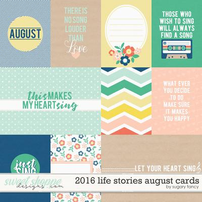 2016 Life Stories - August Cards by Sugary Fancy
