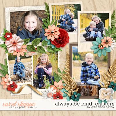 Always be Kind: Clusters by Kristin Cronin-Barrow