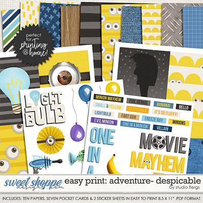 Easy Print: ADVENTURE- DESPICABLE by Studio Flergs