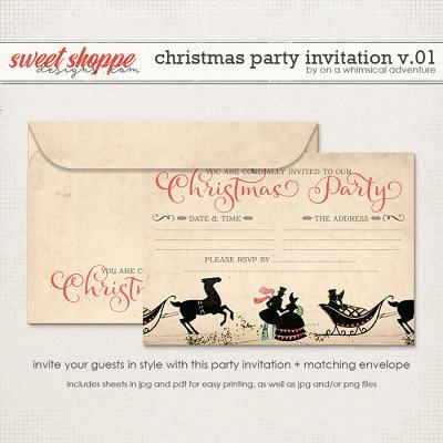 Christmas Party Invitation by On A Whimsical Adventure