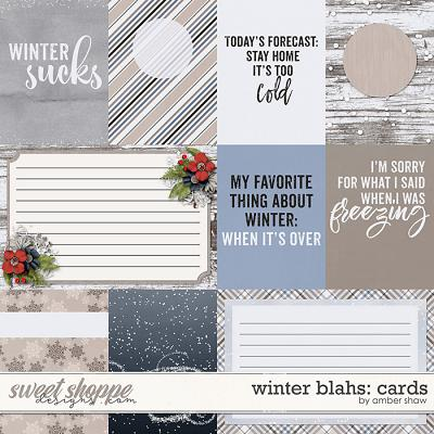 Winter Blahs: Cards by Amber Shaw