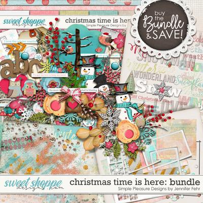 Christmas time is here bundle: Simple Pleasure Designs by Jennifer Fehr