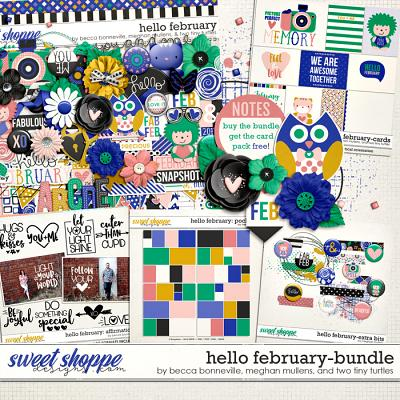 Hello February Bundle by Becca Bonneville, Meghan Mullens & Two Tiny Turtles