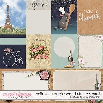 Believe in Magic: Worlds - France Cards by Amber Shaw & Studio Flergs