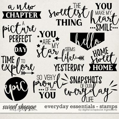 Everyday Essentials | Stamps by Digital Scrapbook Ingredients