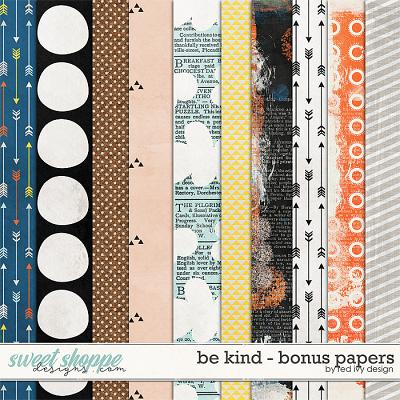 Be Kind - Bonus Papers by Red Ivy Design