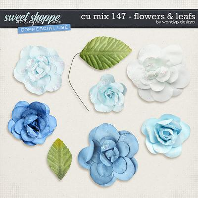 CU Mix 147 - flowers & leafs by WendyP Designs