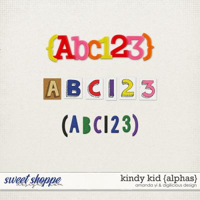 Kindy Kid {Alphas} by Digilicious Design