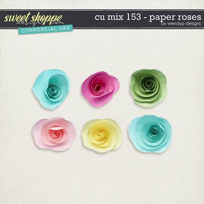 CU Mix 153 - Paper roses by WendyP Designs