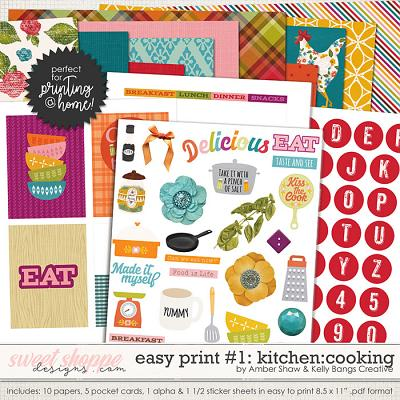 In My Kitchen: Cooking Easy Print #1 by Amber Shaw and Kelly Bangs Creative