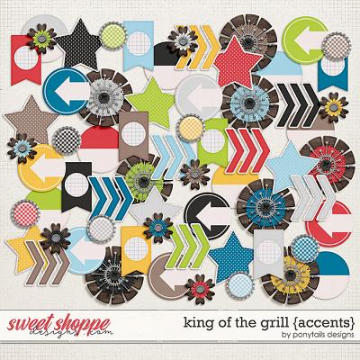 King of the Grill Accents by Ponytails