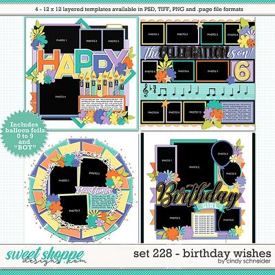 Cindy's Layered Templates - Set 228: Birthday Wishes by Cindy Schneider