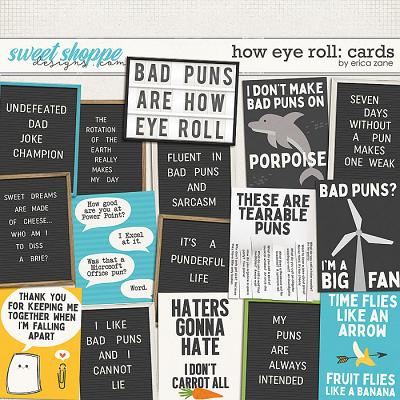 How Eye Roll: Cards by Erica Zane