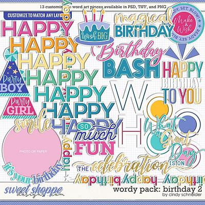 Cindy's Wordy Pack: Birthday 2 by Cindy Schneider
