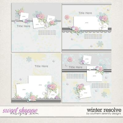 Winter Resolve Layered Templates by Southern Serenity Designs