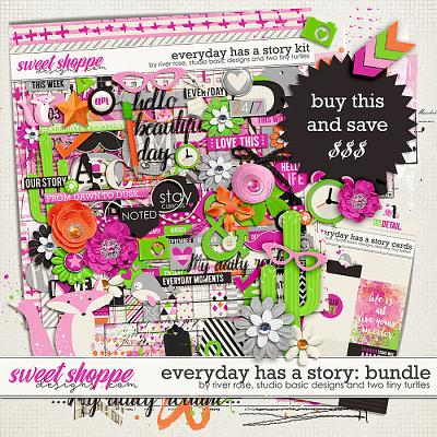 Everyday Has A Story Bundle by River Rose, Studio Basic and Two Tiny Turtles
