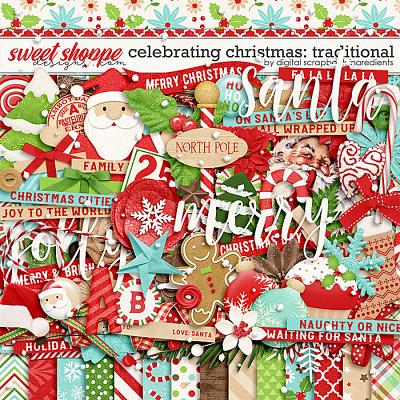 Celebrating Christmas: Traditional by Digital Scrapbook Ingredients