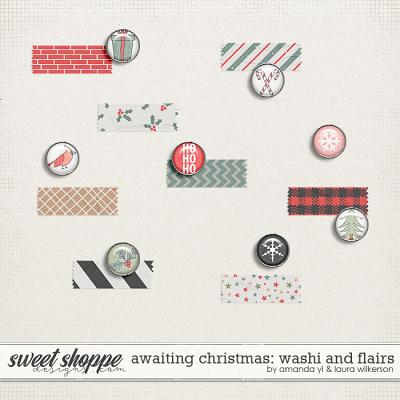 Awaiting Christmas Washi and Flair by Amanda Yi and Laura Wilkerson