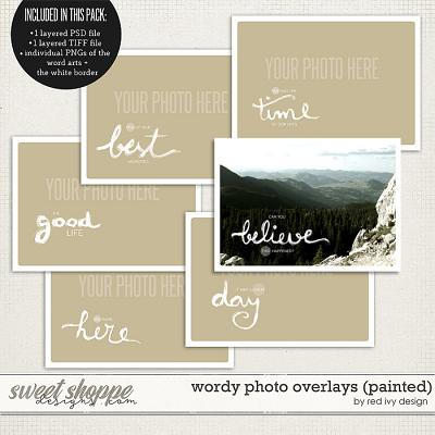 Wordy Photo Overlays (Painted) by Red Ivy Design