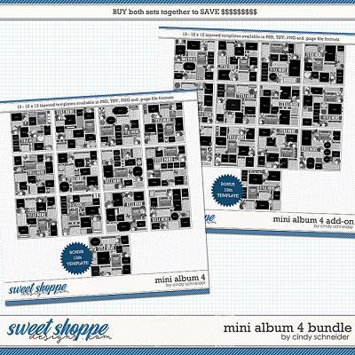 Cindy's Layered Templates - Mini Album 4 Bundle by Cindy Schneider