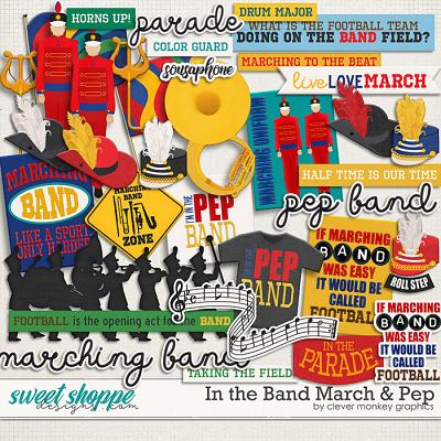 In the Band March & Pep by Clever Monkey Graphics