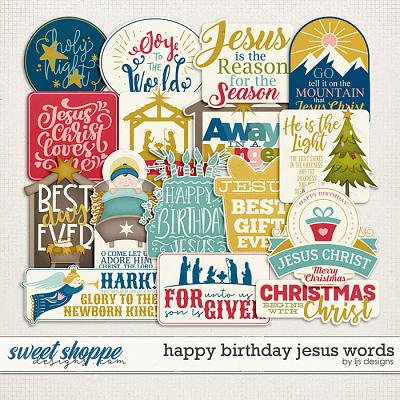 Happy Birthday Jesus Words by LJS Designs