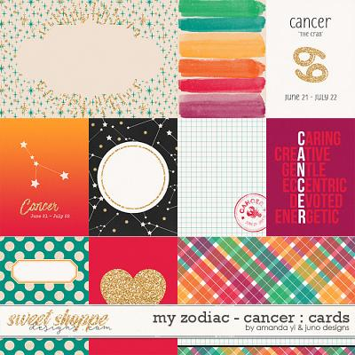 My Zodiac - Cancer : Cards by Amanda Yi & Juno Designs
