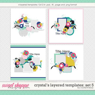 Crystal's Layered Templates Set 5 by Crystal Livesay