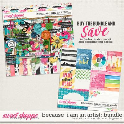 Because I Am An Artist Bundle by Shawna Clingerman and Studio Basic