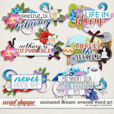 Animated Dream: Everest Word art by Meagan's Creations