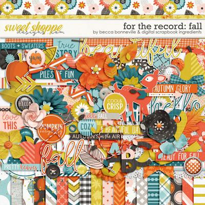 For the Record: Fall by Becca Bonneville & Digital Scrapbook Ingredients