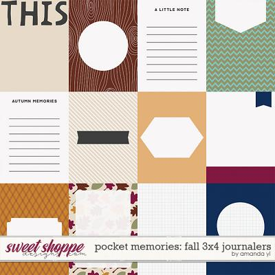 Pocket Memories: Fall 3x4 Journalers by Amanda Yi