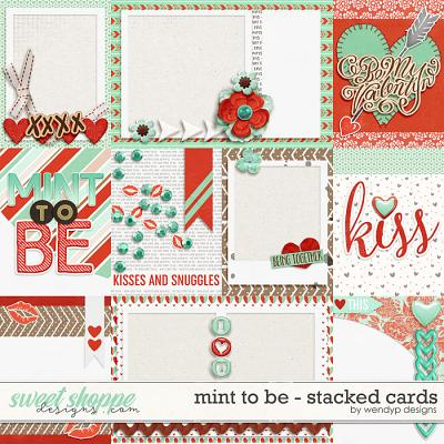Mint to be - Stacked cards by WendyP Designs