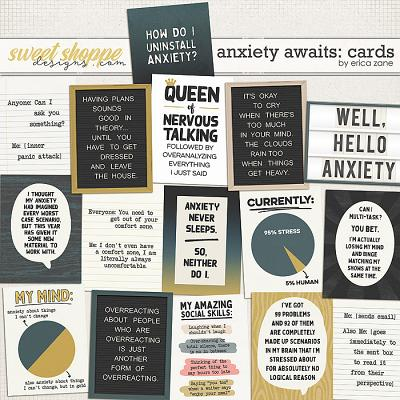 Anxiety Awaits: Cards by Erica Zane