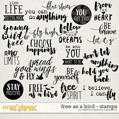 Free As A Bird | Word Art Stamps by Digital Scrapbook Ingredients