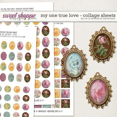My One True Love Collage Sheets by On A Whimsical Adventure