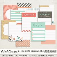 Pocket Starts: Flourish Edition 3x4 Journal Cards by Tickled Pink Studio