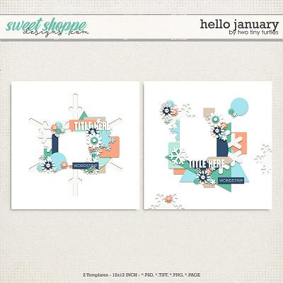 Hello January by Two Tiny Turtles