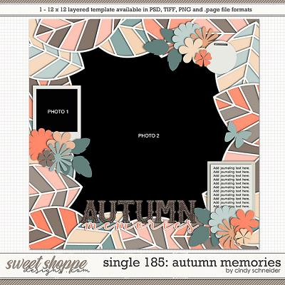 Cindy's Layered Templates - Single 185: Autumn Memories by Cindy Schneider