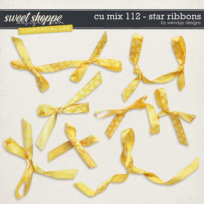 CU Mix 112 - Yellow star ribbons by WendyP Designs