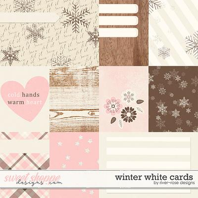 Winter White Cards by River Rose Designs