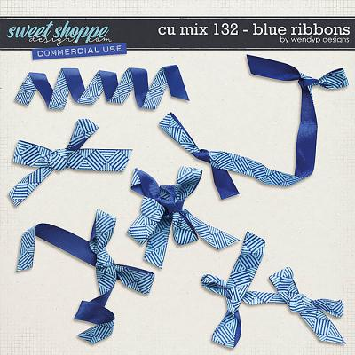 CU Mix 132 - Blue ribbons by WendyP Designs