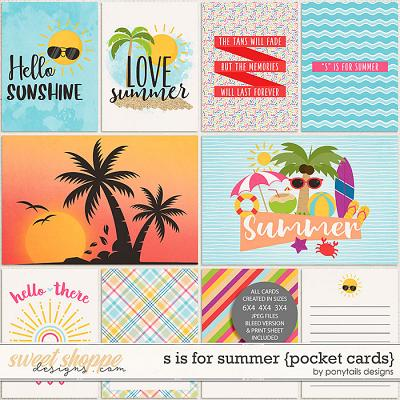 S is for Summer Pocket Cards by Ponytails